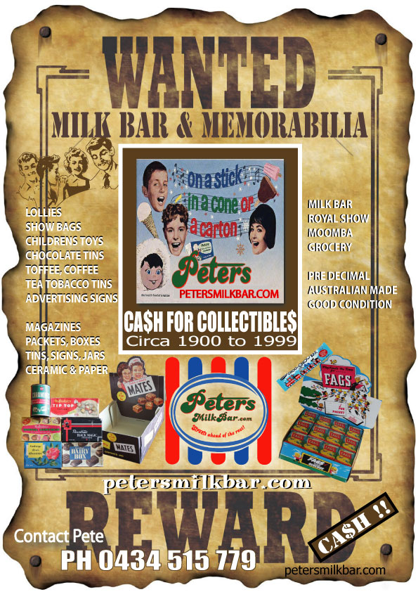 Wanted for Cash your Milk Bar Collectibles