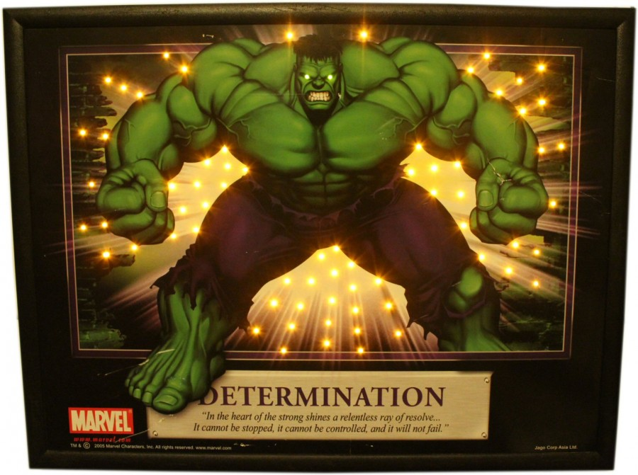 Hulk LED Poster Marvel Comics 2005