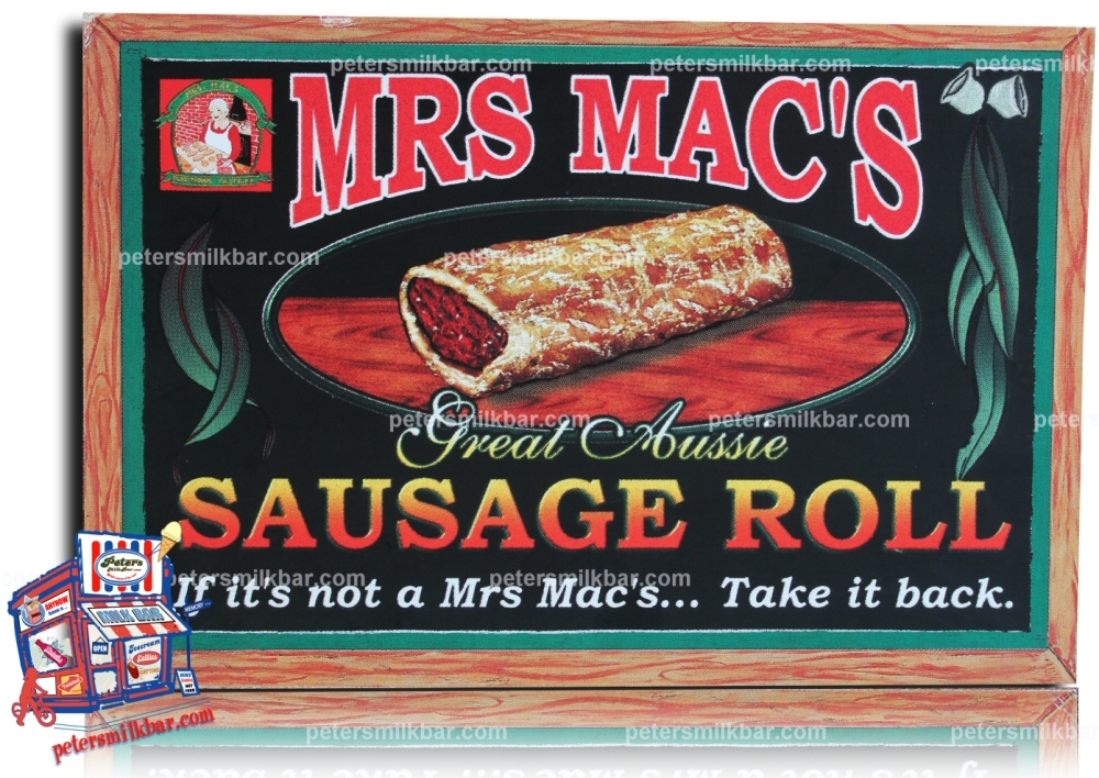 Milk Bar Sign Mrs Macs Sausage Rolls Vintage