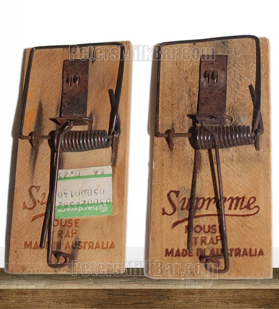 Supreme Vintage Mouse Traps Australian Made