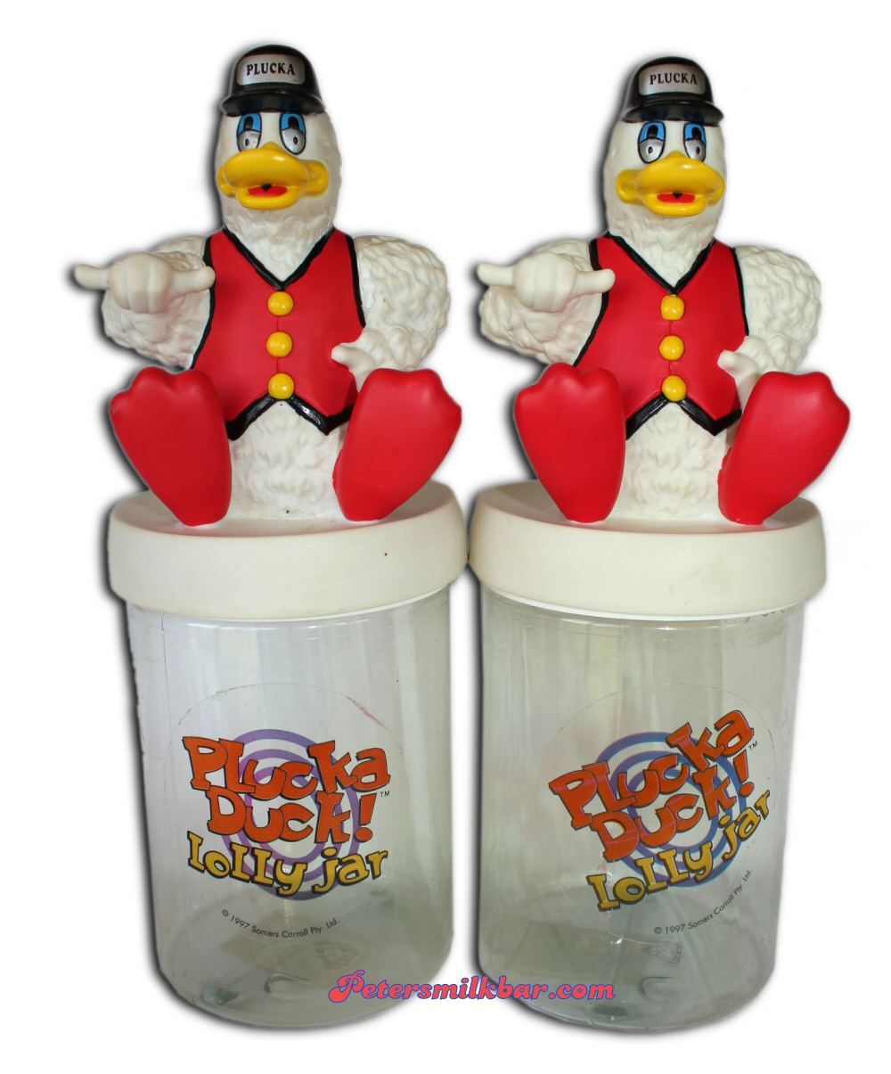 Old Plucka Duck Lolly Jar 1995