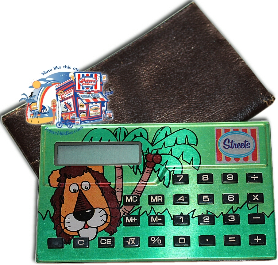 Streets Paddle Pop Lion Vintgae Calculator