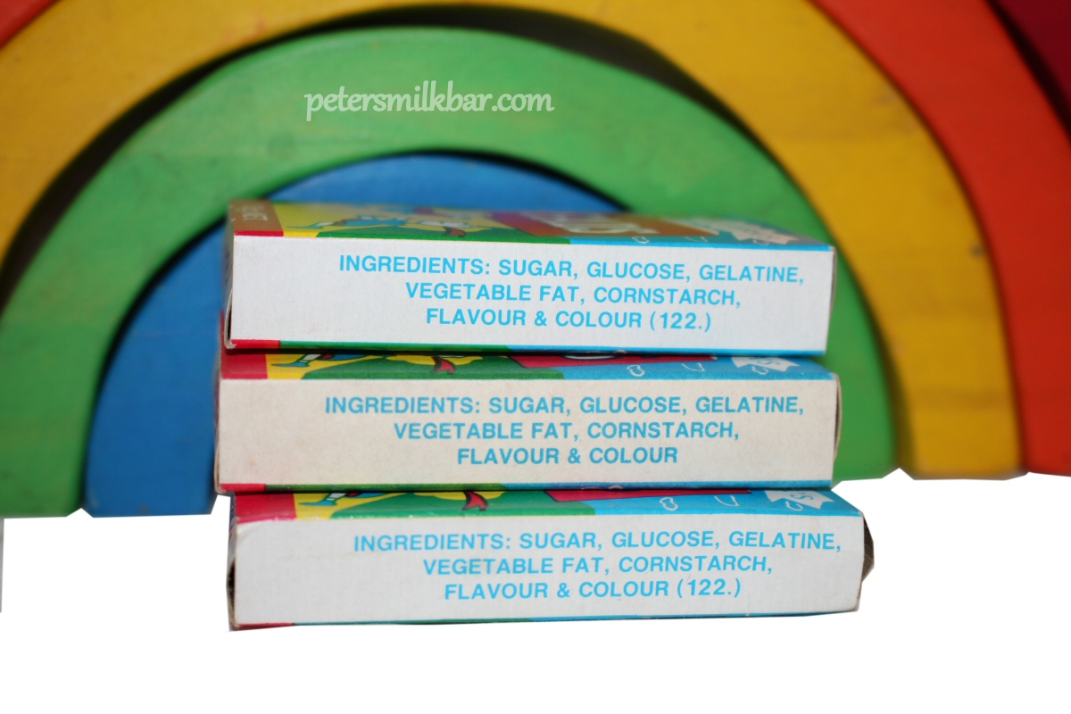 Fags Fads Retro Packets Lollies Ingredients